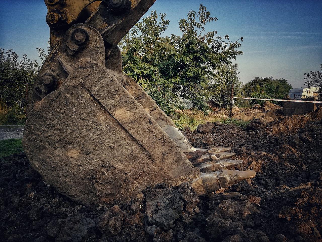gravemaskine til udgravning af omfangsdræn